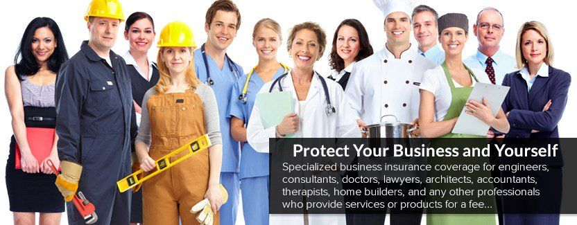 professional liability insurance coverage for different professions