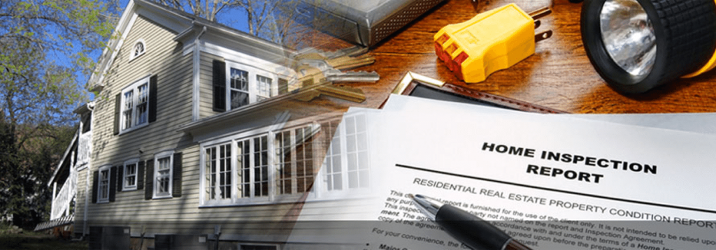 inspector preparing residential property report