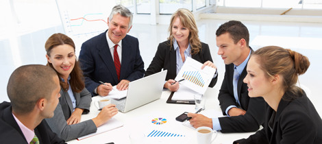 actuary discussing data with client