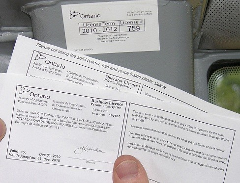 license obtained by the ontario government to be able to work legally under business name