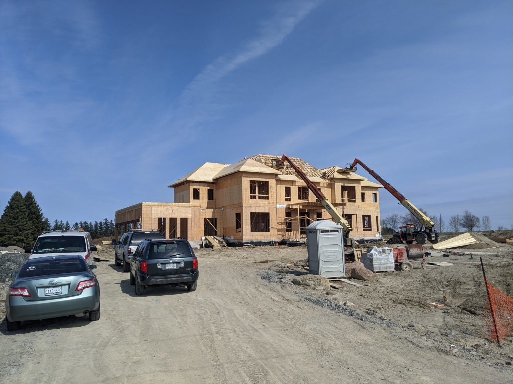 Stouffville house being built